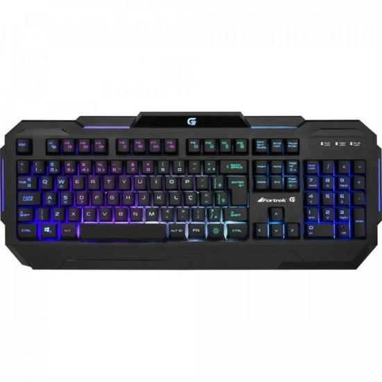 Teclado Gamer Pro K1 RGB Preto FORTREK