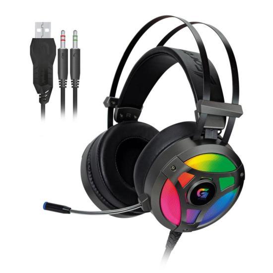 Headset Gamer RGB H1 PRO Cinza FORTREK (64391)
