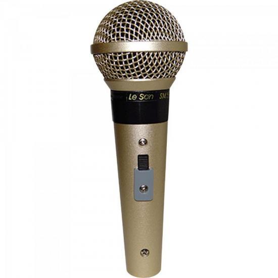 Microfone Profissional Com Fio Cardióide SM58 P4 Champanhe LESON