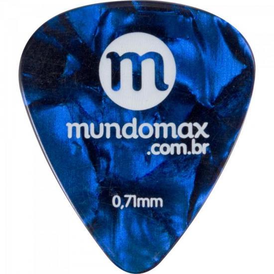 Palheta Madrepérola Média Azul MUNDOMAX (64453)