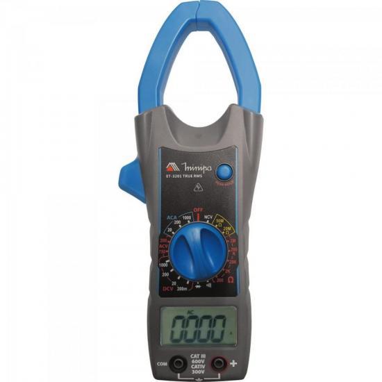 Alicate Amperímetro Digital ET3201 Azul/Cinza MINIPA (64615)