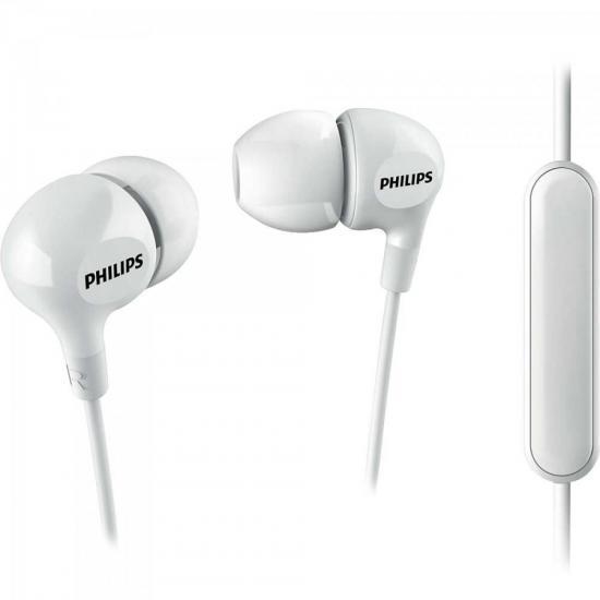 Fone de Ouvido com Microfone SHE3555WT/00 Branco PHILIPS