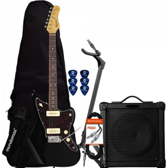 Kit Guitarra Woodstock TW61 Preto TAGIMA + Cubo + Acessórios