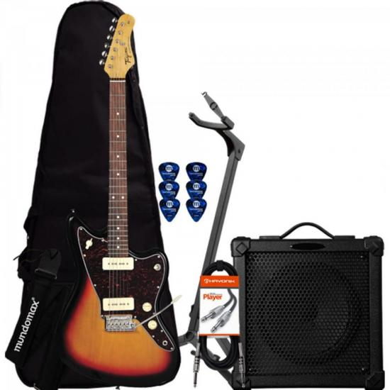 Kit Guitarra Woodstock TW61 Sunburst TAGIMA + Cubo + Acessórios