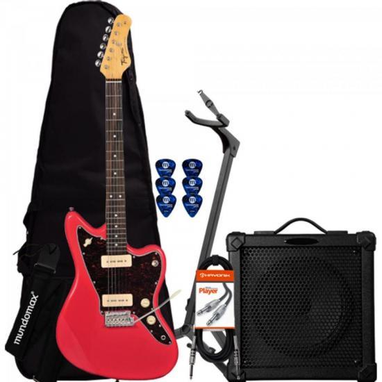 Kit Guitarra Woodstock TW61 Fiesta Red TAGIMA + Cubo + Capa + Acessórios