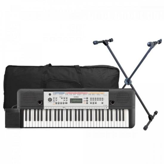 Kit Teclado Musical YPT-260 Preto YAMAHA + Acessórios