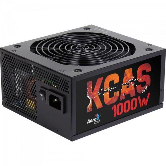 Fonte ATX KCAS 1000W Modular Full Range 80 Plus Bronze PFC Ativo AEROCOOL