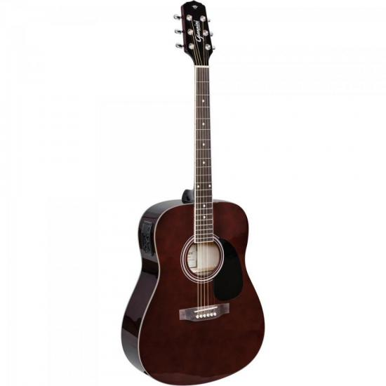 Violão Eletroacústico Dreadnought Folk Aço GD-1 Translucent Dark Wine GIANNINI