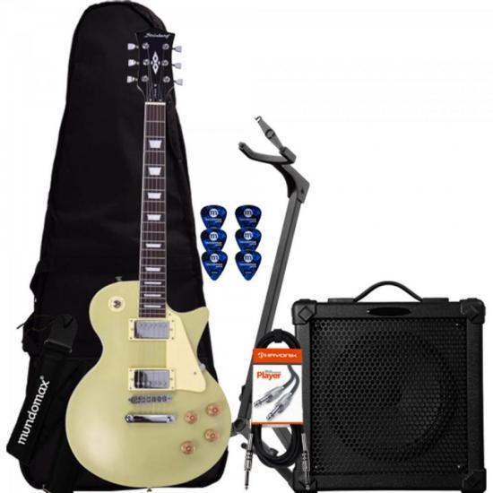 Kit Guitarra Les Paul LPS-230 Gold STRINBERG + Cubo + Capa + Acessórios