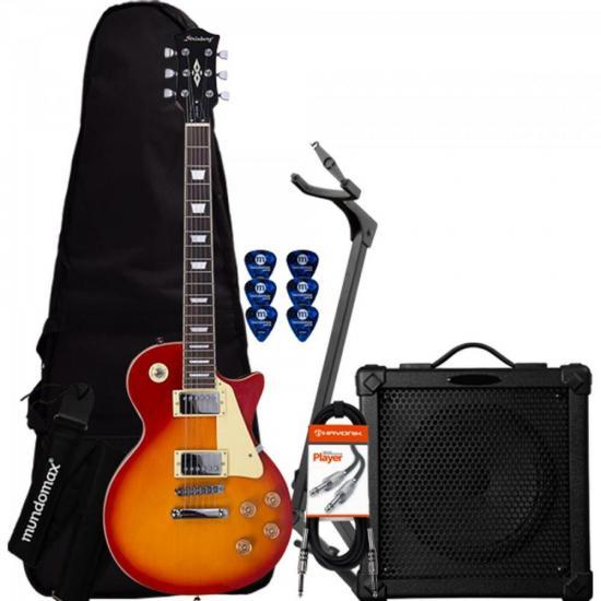 Kit Guitarra Les Paul LPS-230 Cherry Sunburst STRINBERG + Cubo + Capa + Acessórios