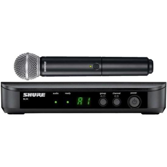 Sistema Sem Fio com Microfone de Mão BLX24/SM58-J10 Preto SHURE