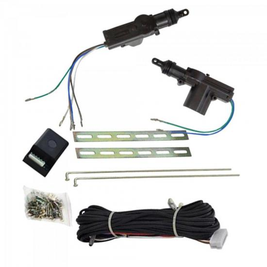 KIT Trava Eletrica Universal p/ 2 Portas RS02BR Preto ROADSTAR