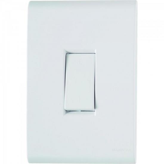 Interruptor Simples 4x2 c/ 1 Tecla 10A 250V Branco TRAMONTINA