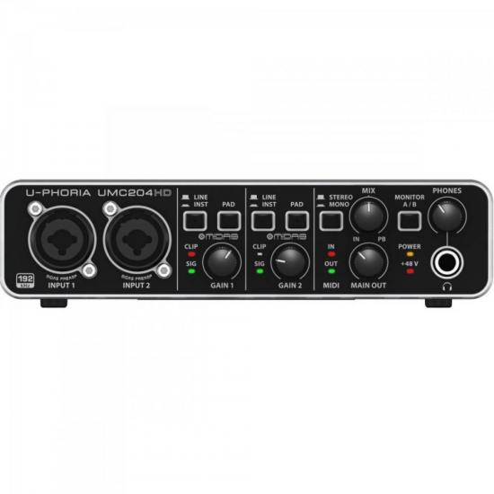 Interface UMC204 HD Preto BEHRINGER