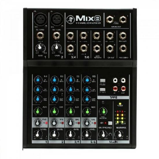 Mixer 8 Canais MIX8 Preta MACKIE