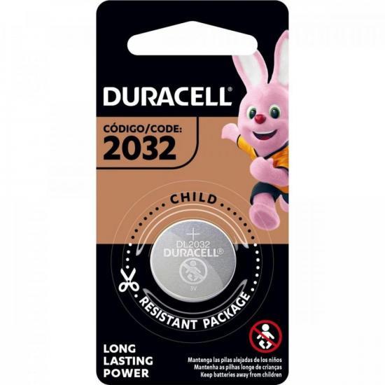 Bateria de Lítio Metálico c/ 1 un. CR 2032 DURACELL (65483)