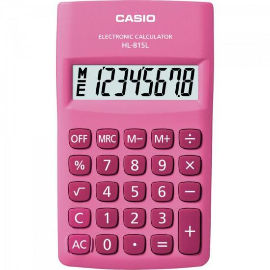 Calculadora de Bolso 8 Dígitos HL815L Rosa CASIO