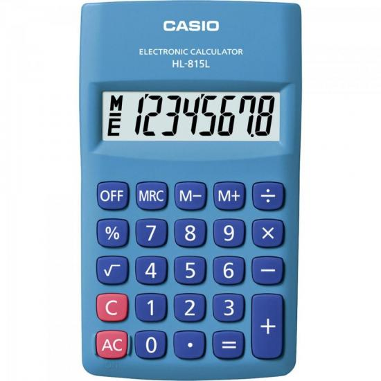 Calculadora de Bolso 8 Dígitos HL815L Azul CASIO