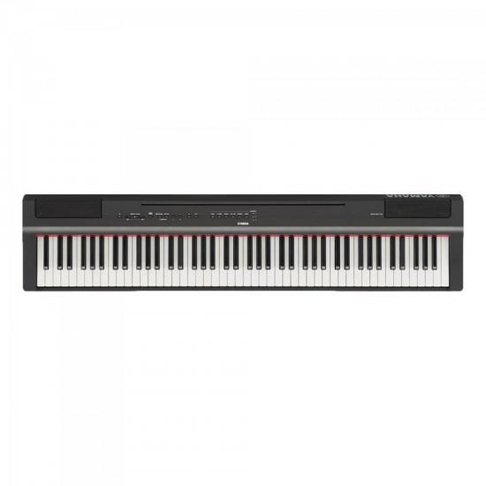Piano Digital Compacto c/ Fonte P125B Preto YAMAHA + Capa Grátis (65581)