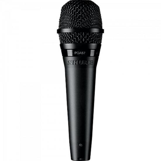 Microfone Cardioide Amplificado PGA57-LC Preto SHURE