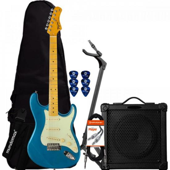 Kit Guitarra Woodstock Series TG-530 Azul TAGIMA + Cubo + Acessórios