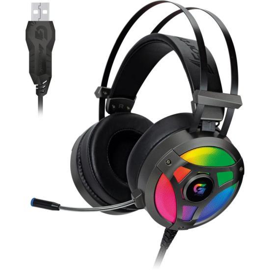 Headset Gamer RGB G Pro H1+ 7.1 Cinza FORTREK (65905)