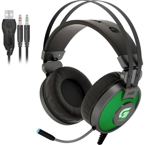 Headset Gamer RGB G Pro H3 Cinza FORTREK (65906)