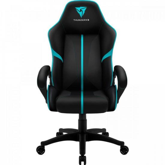 Cadeira Gamer Profissional AIR BC-1 EN61867 Preta/Ciano THUNDERX3 (65909)