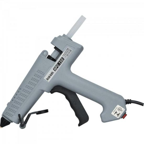 Pistola De Cola Quente Profissional 150W Bivolt HPC150 Cinza HIKARI (66057)