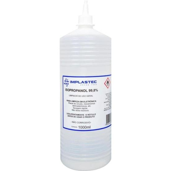 Álcool Isopropilíco 1000ML ISOPROPANOL Transparente IMPLASTEC (66224)