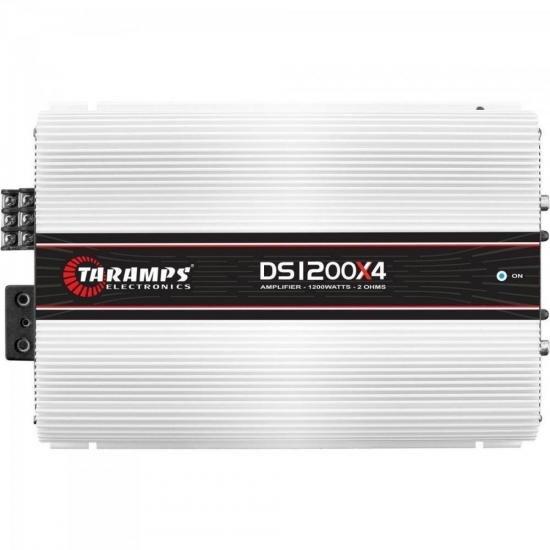 Módulo Amplificador 1200W 2R 04 Canais DS1200X4 Branco TARAMPS