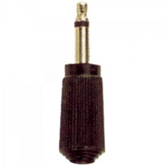 Plug P2 Mono 102 Preto EMETAL