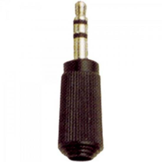 Plug P2 Stereo 104 Preto EMETAL