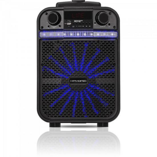 Caixa Multiuso Portátil Bluetooth/MicroSD/USB/FM 80W GO!POWER 100 (66493)