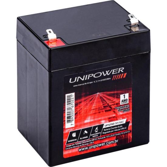 Bateria Selada 12V 5AH UP1250 Preta UNIPOWER (66631)