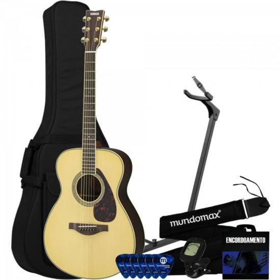Kit Violão Eletroacústico Folk Aço LS16 ARE YAMAHA + Acessórios