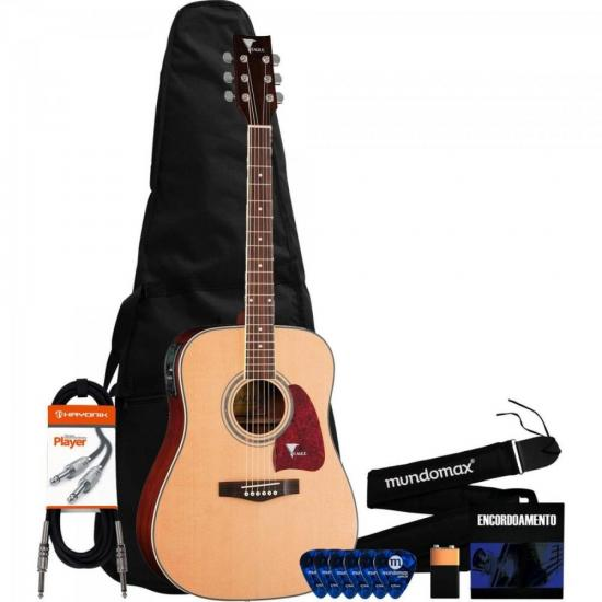 Kit Violão Folk CH888 NT Fosco EAGLE + Acessórios