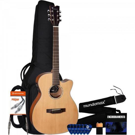 Kit Violão Master Series EMA 663 Natural EAGLE + Acessórios