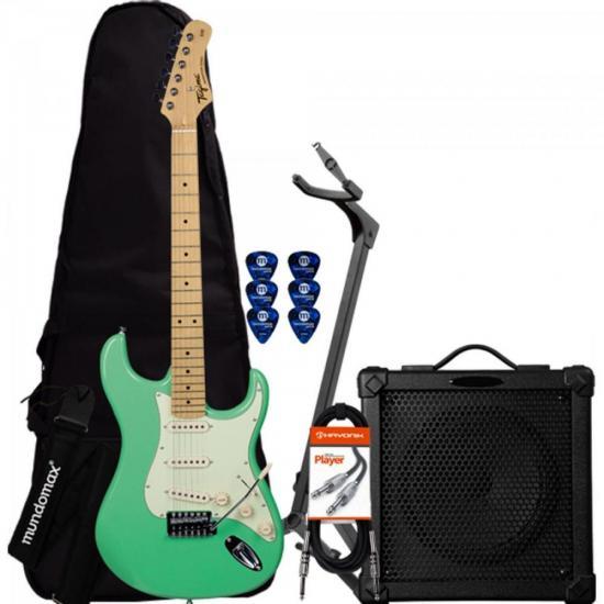 Kit Guitarra Woodstock Series TG-530 Verde + Cubo + Acessórios