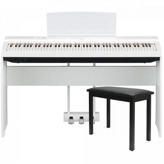 Kit Piano Digital P125 Branco YAMAHA + Acessórios (66810)