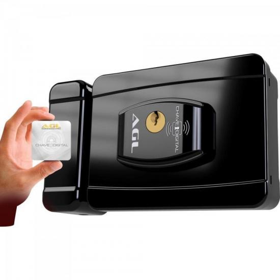 Fechadura Smart Card 12V Preta AGL