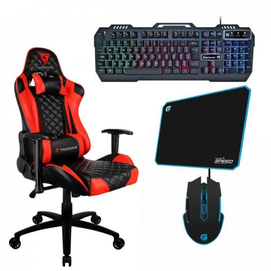 Kit Gamer Profissional TGC12 VR THUNDERX3 + Teclado + Acessórios