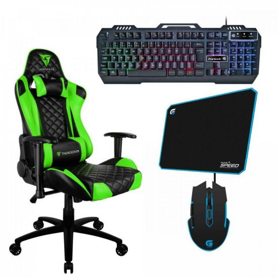 Kit Gamer Profissional TGC12 VD + Teclado + Acessórios