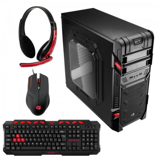 Kit Gabinete Gamer Mid Tower GT ADVANCE 3.0 WINDOW AEROCOOL + Acessórios