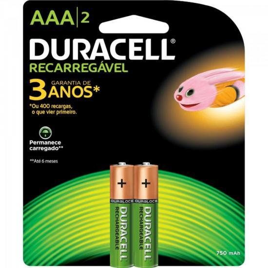 Pilha Recarregável AAA C/2 750MAH DURACELL