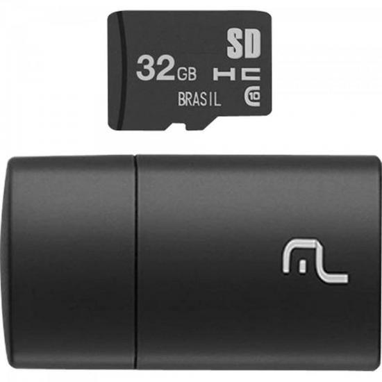 Leitor USB com Cartão SD 32GB MULTILASER