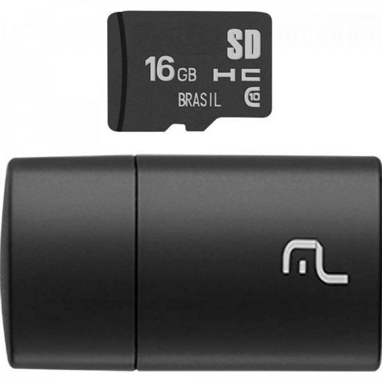 Leitor USB com Cartão SD 16GB MULTILASER (67015)