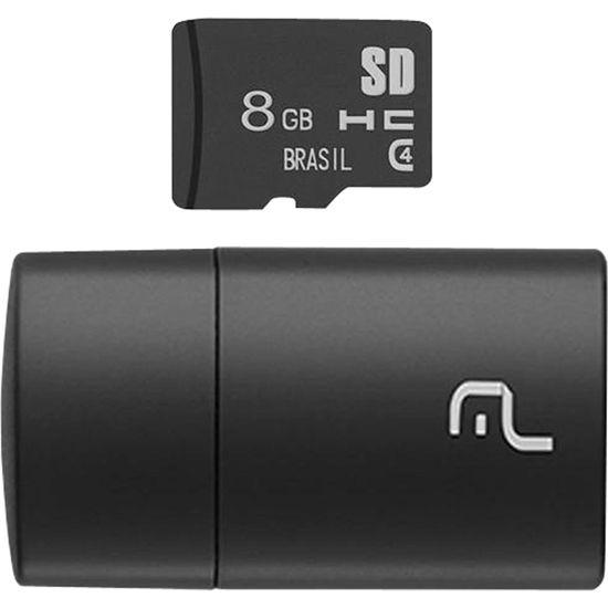 Leitor USB com Cartao SD 8GB MULTILASER (67016)