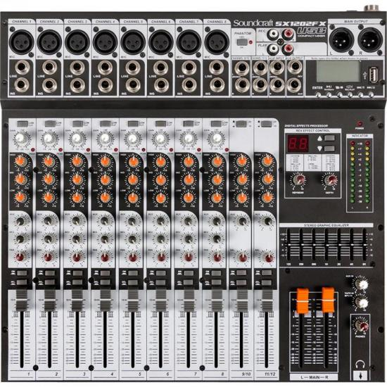 Mixer USB SX1202FX Preto SOUNDCRAFT