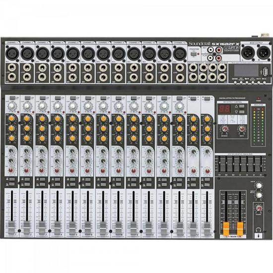 Mesa de Som 16 Canais USB SX1602FX Cinza SOUNDCRAFT (67073)
